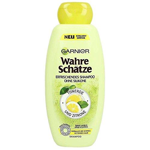 Garnier Wahre Schätze Tonerde + Zitrone erfrischendes Shampoo ohne Silikone Sondergröße 400 ml