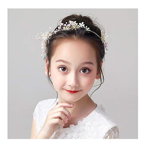 CRR Blumenkranz Blumenstirnband Verstellbare Mädchen Tiara Haarnadel Sen Kleine Erwachsene Leistung Haarschmuck Korean Minimalist