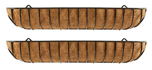 Set di 2 vasi per fioriera da parete in ferro di 120 cm (gardman