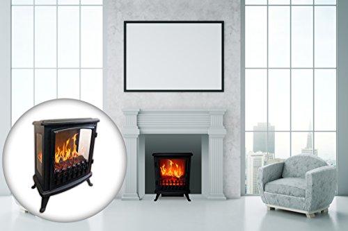 Chemin-Arte-139-3d-Fire-Glass-chimenea-elctrica-Negro