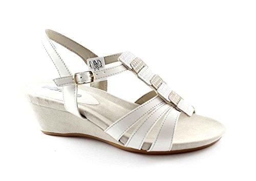 Sandales MELLUSO K95013 strass chaussures zeppetta Grigio