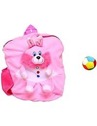 Jrp Mart Light Pink Rabbit Soft Toy Bag With Little Ball