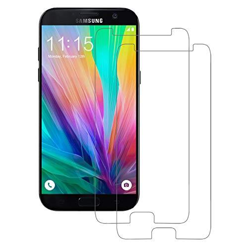 POOPHUNS Samsung Galaxy A5 2017 Panzerglas Schutzfolie, 2 Stück, 9H Härte, Anti-Öl, Anti-Kratzer, Anti-Fingerabdruck, Gehärtetem Bildschirmschutzfolie für Samsung Galaxy A5 2017