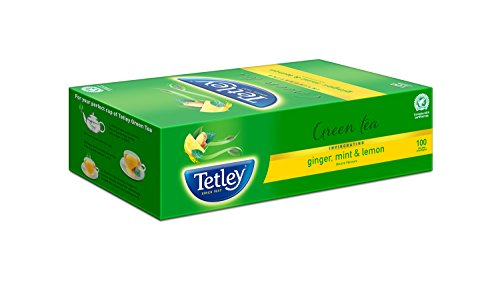Tetley Green Tea, Ginger, Mint and Lemon, 100 Tea Bags