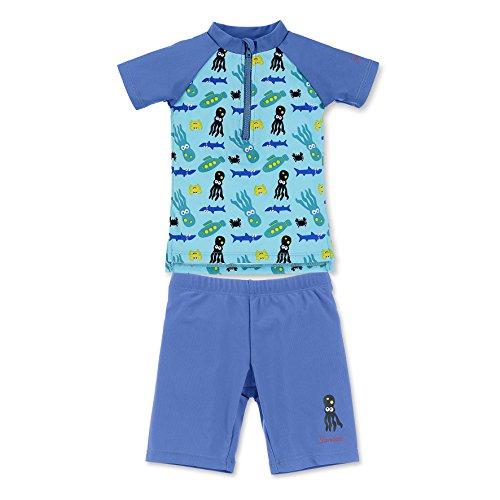 Sterntaler Baby-Jungen Badebekleidungsset 2-TLG. Schwimmanzug, Blau (Aquamarin 427), 92