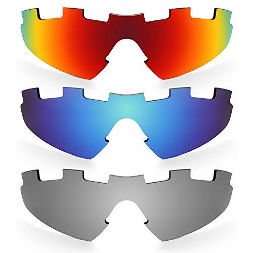 Revant Ersatzlinsen für Oakley M2 (Aero) Vented Polarisiert 3 Paar Kombipack K014
