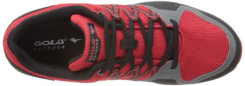 Gola Trailblazer Low, Chaussures multisports homme Rouge - Red/Charcoal/Black