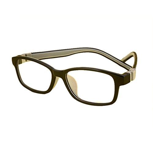 Juleya Kinder Gläser Rahmen - Silikon - Professionel Kinder Brillen Clear Lens Retro Reading...