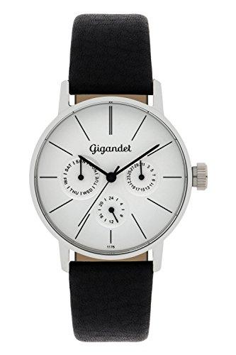 Gigandet G38-001 - Reloj para mujeres, correa de cuero color negro