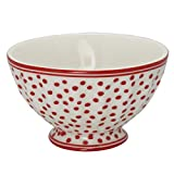 GreenGate French Bowl Dot White medium Sonderedition