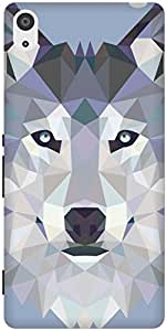 The Racoon Grip Ice Wolf Edged hard plastic printed back case / cover for Sony Xperia Z3