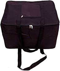 Kuber Industries Canvas 57.5 cms Black Jumbo Attachi (BAG00201)