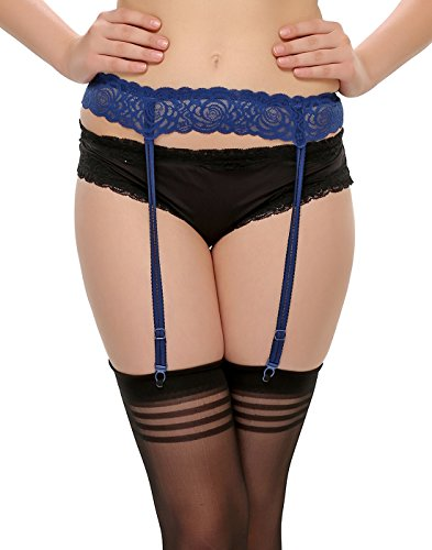 Clovia Women Blue Garter With Sexy Laces  available at amazon for Rs.259