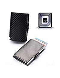 RFID Card Wallet - Automatic Pop-up / Fraud Prevention / Travel Pass / Oyster Holder / Stylish / Interior Pocket / Lightweight / Credit Card Storage / Removable Money clip/ NFC Blocking / Reliable
