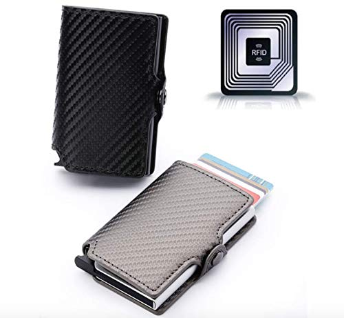 RFID Card Wallet - Automatic Pop-up / Fraud Prevention / Travel Pass / Oyster Holder / Stylish / Interior Pocket / Lightweight / Credit Card Storage / Removeable Money clip/ NFC Blocking / Reliable -
