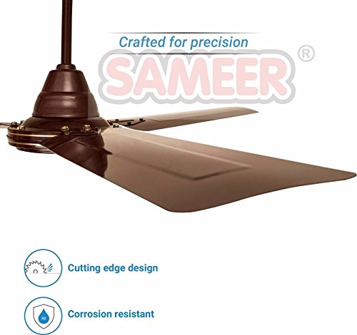 Sameer Gati 1200mm Ceiling Fan (Brown, Pack of 2)