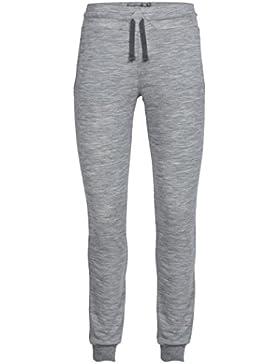 Icebreaker Crush - Pantalones de Jogging para Mujer, Color Gris (Metro HTHR/Charcoal), Talla XS