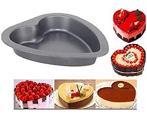 Ornamax Nonstick Heart Shape Tin, Microwave Safe Cake Pan