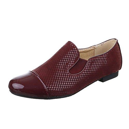 Ital-Design , chaussons dintérieur femme Rouge