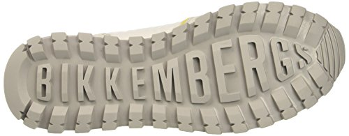 Bikkembergs Numb-er 856, Sneakers basses homme Gris (Grey/yellow)