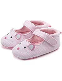 FemmeStopper Baby Pink Mouse Canvas Shoes - 12-18 Months, 14 cm