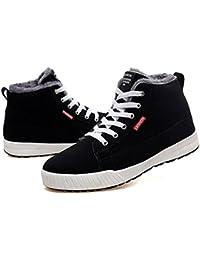 Gracosy Chaussures Hiver Fourrées Hommes Femmes Enfants, Bottines de Neige  Plates Montantes Baskets Sneakers avec 1a7e7b0e2c59