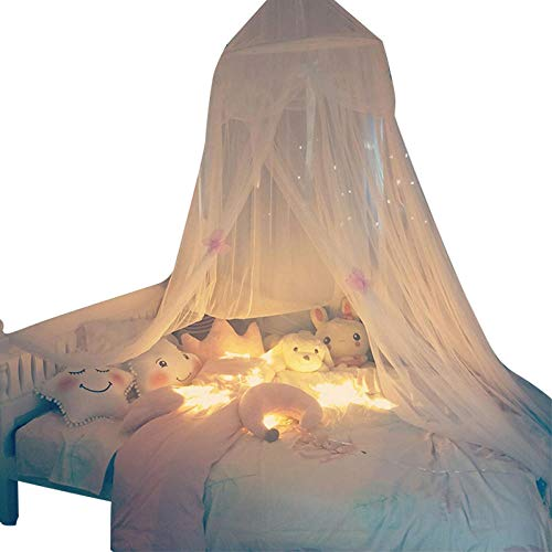 LKOBN Hauben-Decken-Netze_DIY weißes Band-Schmetterlings-Kindermädchen-Herz-Schlafsaal-träumerische Nette Bedside-Ausgangsvorzügliche Dekoration, E (Für Schmetterlings-netz Bett)