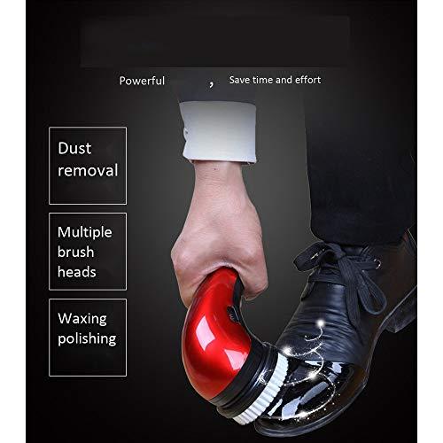 Schuhputzer Schuhe elektrische tragbare Schuhputzer, Schuhputzer wiederaufladbare Lederpflege Handgerät 5 Bürstenköpfe (Kommerzielle Wäscher)