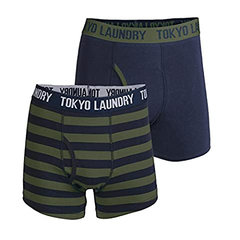 Tokyo Laundry - Boxer - Homme rouge Red - vert - Medium