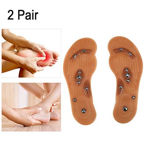 Massageeinlagen, magnetische Einlegesohlen, 2 Paar magnetische Therapie, Ermüdungserscheinung, Gesundheitspflege, Fußmassage, Einlegesohlen, Schuh-Komfort-Pads -
