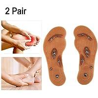 Massage-Einlegesohlen, Reflexzonenmassage-Einlegesohlen 2 Paar Magnettherapie Entmüdungs-entlastende Gesundheits-Fuß-Massage-Einlegesohlen-Schuh-Komfort-Auflagen... preisvergleich bei billige-tabletten.eu