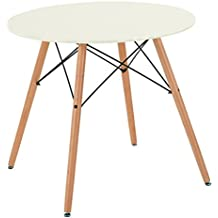 FITATHOME Fit Home Table Ronde 80cm Blanche MDF Bois Massif Scandinave  Design Salle à Manger f685038cd4cd