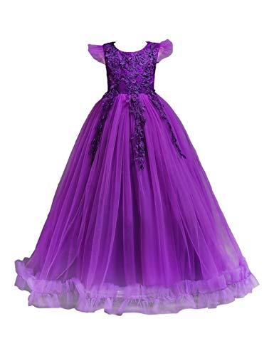 besbomig Weihnachten Hochzeit Abend Kleid Große Mädchen - Blütenblatt Bodenlänge Festzug Geburtstag Prinzessinenkleid Outfits - Hochzeits-abend-kleid