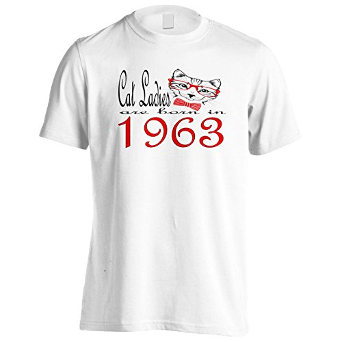 Le signore del gatto sono nate nel 1963 Uomo T-shirt b800m White