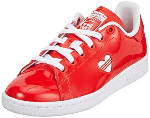 Adidas Stan Smith W, Zapatillas de Gimnasia para Mujer, Rosso FTWR White/Active Red, 40 EU