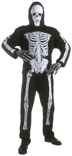 Halloween 13 Kostüme Jährigen (Widmann 38118 - Kinderkostüm Skelett, Anzug und Maske, Gröߟe)
