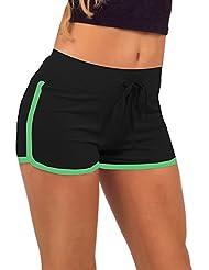 Entrenamiento Yoga de Mexi Mujeres Pantalones cortos Ejercicio Mini caliente Pantalones cortos