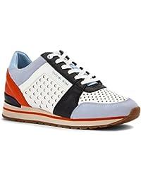 Sneaker Michael Kors Billie en piel perforada blanca