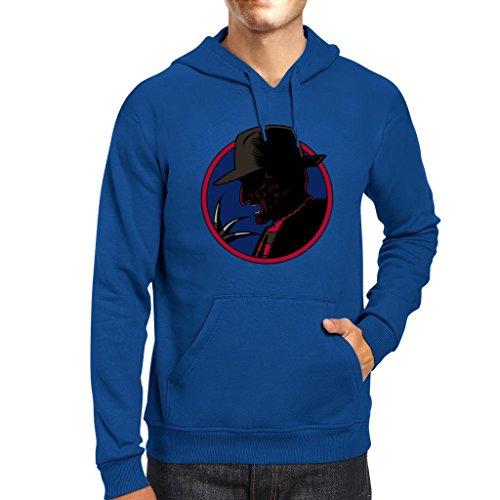 TeeTrumpet Nightmare On Elm Street Dick Tracy Freddie Mix Men's Hooded Sweatshirt