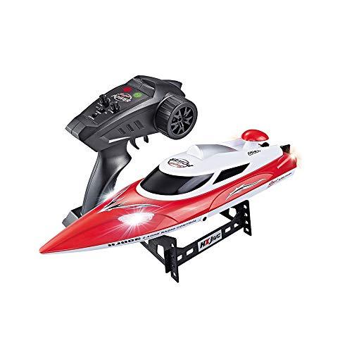 CUEYU HJ806 RC Boat Ferngesteuertes Boot,2,4G RC Boot 35 KM / std Speed Racing Fernbedienung Luftschiff Spielzeug,with Cooling Water System,Einfach zu steuern für Anfänger (Rot)