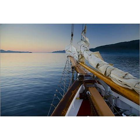 Stampa su legno 30 x 20 cm: Sailing in British Columbia di Roddy Scheer / Danita Delimont