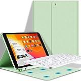 Teclado iPad 10.2 Funda, Funda con Teclado para iPad 10.2 (2019 7 Gen)/(2020 8 Gen) con Ranura de Lápiz -Teclado Bluetooth In