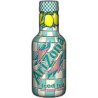 Bouteille Original Arizona Iced Tea with Lemon Flavour, Thé Glacé au Citron, Bouteille en Plastique PET, 50 cl