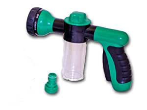 Multi Function Water Gun with Garden Feed, Detergent Dispenser Chamber