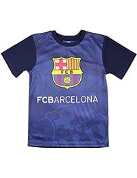 FC Barcelone - Maillot de foot FC Barcelone bleu et noir officiel enfant - 8 ans,10 ans,12 ans,14 ans,11 ans,9 ans,13 ans