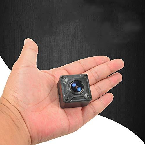 Mini cámara de seguridad oculta, 180 ° Lente gran angular 1080P Cámara en miniatura Micro Motion HD portátil para automóvil, hogar, drones, videocámaras de oficina y vida familiar profesional DV