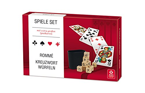 Preisvergleich Produktbild ASS Altenburger 4042677703057 - Spiele Set - Rommé/ Kreuzwortwürfeln