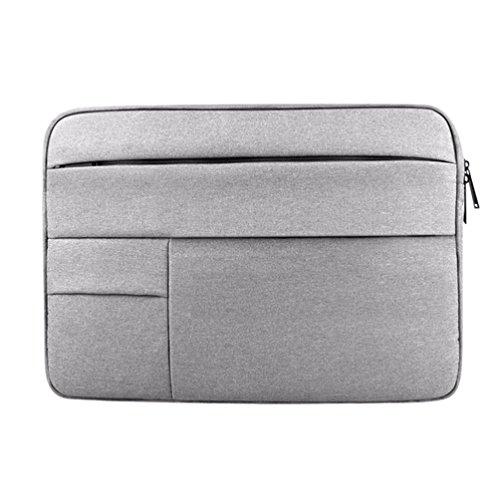Yuncai Notebooktasche 11.6-15.6 Zoll Multifunktional Wasserdicht Stoßfest Laptop Handtasche Für Macbook Grau 12.5Inch