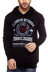 Gritstones Black Printed Sweatshirt-GSSSBLKCLUB-XL