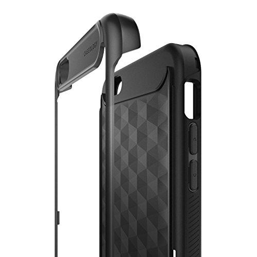 Custodia iPhone 6S Plus, Caseology [Serie Parallax] Cover, Sottile Protezione Military-Grade Presa Strutturata Disegno Geometrico [Borgogna - Burgundy] per Apple iPhone 6S Plus (2015) & iPhone 6 Plus  Nero - Black